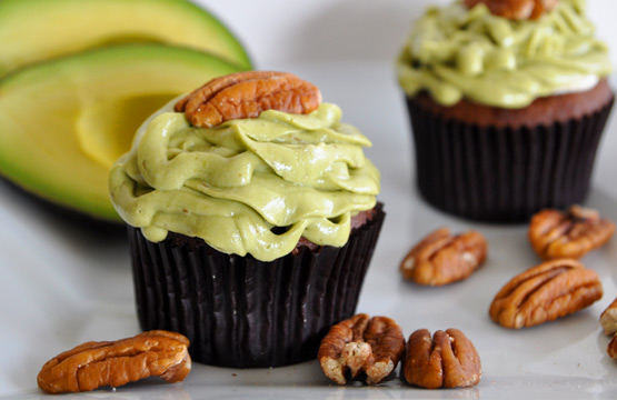 Avocado Chocolate Cupcake
